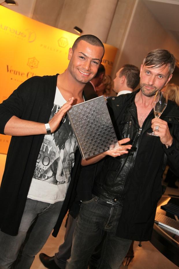 Michael Retrograd und Wissam Hindawi während der Laureus Charity und Philipp Plein Fashion SHow