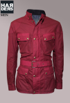 Belstaff-Jacke-Woodcote-Rot-Wachs-Gürtel-Baumwolle-Harders-Onlineshop-Onlinestore-Fashion-Designer-Mode-Damen-Herren-Men-Women-Spring-Summer-Frühjahr-Sommer-2013