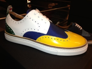 Dsquared-Sneaker-Budapester-Gelb-Blau-Weiß