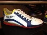 Dsquared-Sneaker-Weiß-Blaue-Streifen-Rote-Sohle