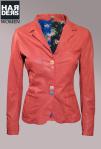 Delan-Leder-Blazer-Rot-Red-Coral-Bunt-Knöpfe-Doppel-Tasche-Blume-Muster-Innenfutter-Harders-Onlineshop-Onlinestore-Fashion-Designer-Mode-Damen-Herren-Men-Women-Spring-Summer-Frühjahr-Sommer-2013