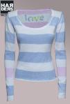 Frogbox-Pullover-Streifen-Love-Blau-Bleu-Rose-weiß-Baumwolle-Kaschmir-Harders-Onlineshop-Onlinestore-Fashion-Designer-Mode-Damen-Herren-Men-Women-Spring-Summer-Frühjahr-Sommer-2013