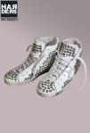 Philippe-Model-Hi-Top-Sneaker-Limited-Limitiert-Glatt-Leder-Weiß-Nieten-Handmade-Logo-Zeichnung-Vintage-Harders-Onlineshop-Onlinestore-Fashion-Designer-Mode-Damen-Herren-Men-Women-Spring-Summer-Frühjahr-Sommer-2013