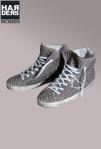 Philippe-Model-Hi-Top-Sneaker-Limited-Limitiert-Wild-Leder-Grau-Nieten-Handmade-Logo-Zeichnung-Vintage-Harders-Onlineshop-Onlinestore-Fashion-Designer-Mode-Damen-Herren-Men-Women-Spring-Summer-Frühjahr-Sommer-2013