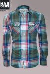 Superdry-Hemd-Shirt-Grün-Blau-Rot-Beige-kariert-Vintage-washed-Cotton-Baumwolle-Harders-Onlineshop-Onlinestore-Fashion-Designer-Mode-Damen-Herren-Men-Women-Spring-Summer-Frühjahr-Sommer-2013