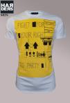 Dsquared-Shirt-Frontprint-Fight-for-your-right-to-party-weiß-Gelb-Harders-Onlineshop-Onlinestore-Fashion-Designer-Mode-Damen-Herren-Men-Women-Spring-Summer-Frühjahr-Sommer-2013
