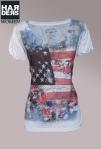 Dorothy-Blue-Shirt-Weiß-Baumwolle-USA-Flagge-Flag-Stars-Stripes-Swarovski-Front-Print-Flower-Harders-Onlineshop-Onlinestore-Fashion-Designer-Mode-Damen-Herren-Men-Women-Spring-Summer-Frühjahr-Sommer-2013
