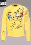 Dsquared-Sweat-Shirt-Gelb-Front-Print-Sound-Rock-Dance-Harders-Onlineshop-Onlinestore-Fashion-Designer-Mode-Damen-Herren-Men-Women-Spring-Summer-Frühjahr-Sommer-2013