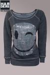 Peacock-Blue-Sweat-Shirt-Smiley-Swarovski-Anthra-Silber-Harders-Onlineshop-Onlinestore-Fashion-Designer-Mode-Damen-Herren-Men-Women-Spring-Summer-Frühjahr-Sommer-2013