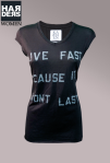 Zoe-Karssen-Shirt-Schwarz-Live-fast-cause-it-wont-last-Harders-Online-Shop-Store-Fashion-Designer-Mode-Damen-Herren-Men-Women-Pre-Kollektion-Fall-Winter-Herbst-2013-2014