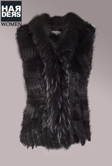 oakwood fell weste dulcina schwarz kaninchen waschb r pelz harders online shop store fashion. Black Bedroom Furniture Sets. Home Design Ideas