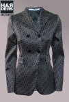 Schumacher-Blazer-Seide-Silk-Muster-Grafik-Doppelreiher-Bronze-Blau-Schwarz-Harders-Online-Shop-Store-Fashion-Designer-Mode-Damen-Herren-Men-Women-Pre-Kollektion-Fall-Winter-Herbst-2013-2014