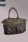 Liebeskind-Tasche-Sila-Grün-Brown-Leder-Canvas-Reissverschluss-Beutel-Bag-Harders-Online-Shop-Store-Fashion-Designer-Mode-Damen-Herren-Men-Women-Jades-Soeren-Volls-Pool-Mientus-Fall-Winter-Herbst-2013-2014