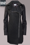 Patrizia-Pepe-Mantel-Kurz-Material-Mix-Wolle-Schwarz-Reissverschluss-Filz-Harders-Online-Shop-Store-Fashion-Designer-Mode-Damen-Herren-Men-Women-Jades-Soeren-Volls-Pool-Mientus-Fall-Winter-Herbst-2013-2014