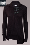Patrizia-Pepe-Wolle-Jacke-Cardigan-Schwarz-Schnalle-Kragen-Harders-Online-Shop-Store-Fashion-Designer-Mode-Damen-Herren-Men-Women-Jades-Soeren-Volls-Pool-Mientus-Fall-Winter-Herbst-2013-2014