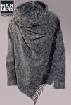 Patrizia-Pepe-Wolle-Jacke-Poncho-Filz-Leopard-Grau-Schwarz-Kragen-Fransen-Harders-Online-Shop-Store-Fashion-Designer-Mode-Damen-Herren-Men-Women-Jades-Soeren-Volls-Pool-Mientus-Fall-Winter-Herbst-2013-2014