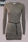 Patrizia-Pepe-Wolle-Kleid-Grün-Oliv-Leder-Gürtel-Lagen-Harders-Online-Shop-Store-Fashion-Designer-Mode-Damen-Herren-Men-Women-Jades-Soeren-Volls-Pool-Mientus-Fall-Winter-Herbst-2013-2014