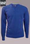 Daniele-Fiesoli-Strick-V-Pullover-Blau-Woll-Mix-Vintage-Wash-Harders-Online-Shop-Store-Fashion-Designer-Mode-Damen-Herren-Men-Women-Jades-Soeren-Volls-Pool-Mientus-Fall-Winter-Herbst-2013-2014