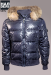 Bomboogie-Daune-Jacke-Blau-Glanz-Echt-Pelz-Fell-Kragen-Kapuze-Harders-Online-Shop-Store-Fashion-Designer-Mode-Damen-Herren-Men-Women-Jades-Soeren-Volls-Pool-Mientus-Fall-Winter-Herbst-2013-2014