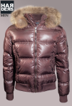 Bomboogie-Daune-Jacke-Braun-Glanz-Echt-Pelz-Fell-Kragen-Kapuze-Harders-Online-Shop-Store-Fashion-Designer-Mode-Damen-Herren-Men-Women-Jades-Soeren-Volls-Pool-Mientus-Fall-Winter-Herbst-2013-2014