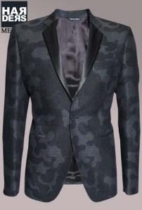 Brian-Dale-Sacco-Blazer-Camouflage-Satin-Kragen-Revers-Schwarz-Grau-Black-Harders-24-Online-Shop-Store-Fashion-Designer-Mode-Damen-Herren-Men-Women-Fall-Herbst-Winter-Spring-Summer-Frühjahr-Sommer-2014-2015