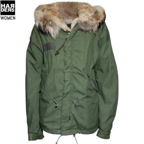 Barbed-Parka-P145-Short-Green-Oliv-Pelz-Fell-Harders-24-Online-Shop-Store-Fashion-Designer-Mode-Damen-Herren-Men-Women-Fall-Herbst-Winter-2014