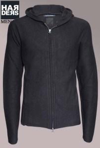 Hannes-Roether-Hoodie-Woll-Filz-Jacke-Rooper-45712-Black-Schwarz-Harders-24-Online-Shop-Store-Fashion-Designer-Mode-Damen-Herren-Men-Women-Fall-Herbst-Winter-2014