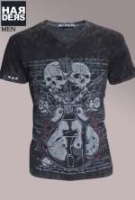 Black-Money-Crew-Shirt-Rock-n-Roll-Black-Skull-Gun-Vintage-Wash-Harders-24-Online-Shop-Store-Fashion-Designer-Mode-Damen-Herren-Men-Women-Fall-Herbst-Winter-2014