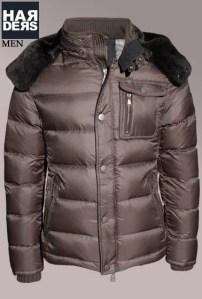 Handstich-Daune-Jacke-Dave-Braun-Oliv-Leder-Kapuze-Harders-24-Online-Shop-Store-Fashion-Designer-Mode-Damen-Herren-Men-Women-Fall-Herbst-Winter-2014