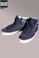 Philippe-Model-Sneaker-Schuhe-MDHU-CS06-Black-Dark-Blue-Hahnentritt-Harders-24-Online-Shop-Store-Fashion-Designer-Mode-Damen-Herren-Men-Women-Fall-Herbst-Winter-2014