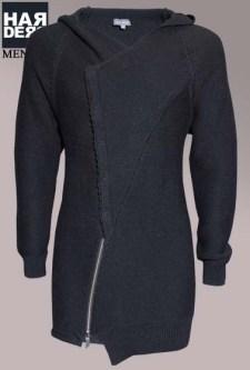 Preach-Strick-Cardigan-Woll-Mantel-Galileo-Kapuze-Black-Harders-24-Online-Shop-Store-Fashion-Designer-Mode-Damen-Herren-Men-Women-Fall-Herbst-Winter-2014