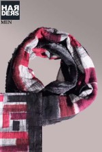 Faliero-Sarti-Schal-Scarf-Lerian-Schwarz-Weiß-Rot-Harders-24-Online-Shop-Store-Fashion-Designer-Mode-Damen-Herren-Men-Women-Fall-Herbst-Winter-2014