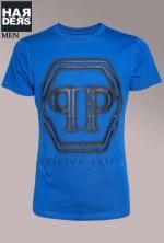 Philipp-Plein-Logo-Shirt-Follow-Me-PP-HM345387-Blau-Harders-24-Online-Shop-Store-Fashion-Designer-Mode-Damen-Herren-Men-Women-Fall-Herbst-Winter-2014