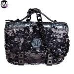 Philipp-Plein-Clutch-Bag-Tasche-Pailletten-Camouflage-Kette-Plakette-Harders-24-Online-Shop-Store-Fashion-Designer-Mode-Woman-Damen-Women-Fall-Herbst-Winter-2014