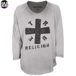 True-Religion-Baseball-Shirt-Longsleeve-Cross-Kreuz-Niete-Studs-Tasche-W14HT19B9G-Silver-Harders-24-Online-Shop-Store-Fashion-Designer-Mode-Woman-Damen-Women-Fall-Herbst-Winter-2014