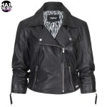 Tigha-Biker-Leder-Jacke-Kaja-100165-Leather-Schwarz-Black-Kurz-Vintage-Used-Harders-24-Online-Shop-Store-Fashion-Designer-Mode-Woman-Damen-Women-Fruehjahr-Sommer-Spring-Summer-2015