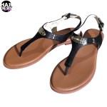 Michael-Kors-Sandale-Plate-Thong-Black-Schwarz-Leather-Leder-Harders-24-fashion-Spring-Summer-Frühjahr-Sommer-Damen-Women-2015