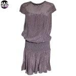 Set-Kleid-Muster-Print-Braun-Beige-Seide-46722-Harders-24-fashion-Spring-Summer-Fruehjahr-Sommer-Damen-Women-2015