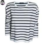 Set-Pullover-Longsleeve-Shirt-Baumwolle-Streifen-Weiss-Schwarz-45873-Harders-24-fashion-Spring-Summer-Fruehjahr-Sommer-Damen-Women-2015