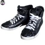Philipp-Plein-Schuhe-Sneaker-Shoes-Logo-Plakette-Leder-Leather-Reptil-Schlange-Snake-Schwarz-Black-Harders-24-fashion-Spring-Summer-Fruehjahr-Sommer-Damen-Women-2015