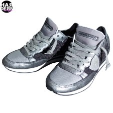 Philippe-Model-Sneaker-Runner-Retro-Tweed-TRLD-Black-Grey-Silver-Metal-Harders-24-fashion-Fall-Winter-Herbst-Damen-Women-2015