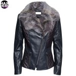 Schyia-Biker-Leder-Jacke-Luxa-Schwarz-Fox-Fuchs-Black-Pelz-Fell-Zip-Harders-24-fashion-Fall-Winter-Herbst-Damen-Women-2015