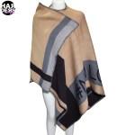 Sara-Martignoni-Poncho-N1-Love-Caramel-Black-Schwarz-Grau-Grey-Streifen-Stripe-Muster-Grafik-Harders-24-fashion-Fall-Winter-Herbst-Damen-Women-2015