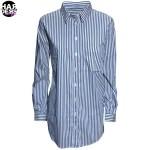 Van-Laack-Bluse-Hemd-Shirt-Blouse-Enja-Blue-Blau-White-Weiß-Streifen-Stripes-Chain-Kette-Perlen-Pearl-Silk-Seide-Harders-24-fashion-Fall-Winter-Herbst-Damen-Women-2015