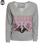 True-Religion-Sweat-Shirt-W16SF02C7G-Flower-Rose-Blumen-Grey-Grau-Vintage-Harders-Fashion-24-fashion-Spring-Summer-Fruehjahr-Sommer-Damen-Women-2016