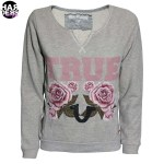 True-Religion-Sweat-Shirt-W16SF02C7G-Flower-Rose-Blumen-Grey-Grau-Vintage-Harders-Fashion-24-fashion-Spring-Summer-Fruehjahr-Sommer-Damen-Women-2016