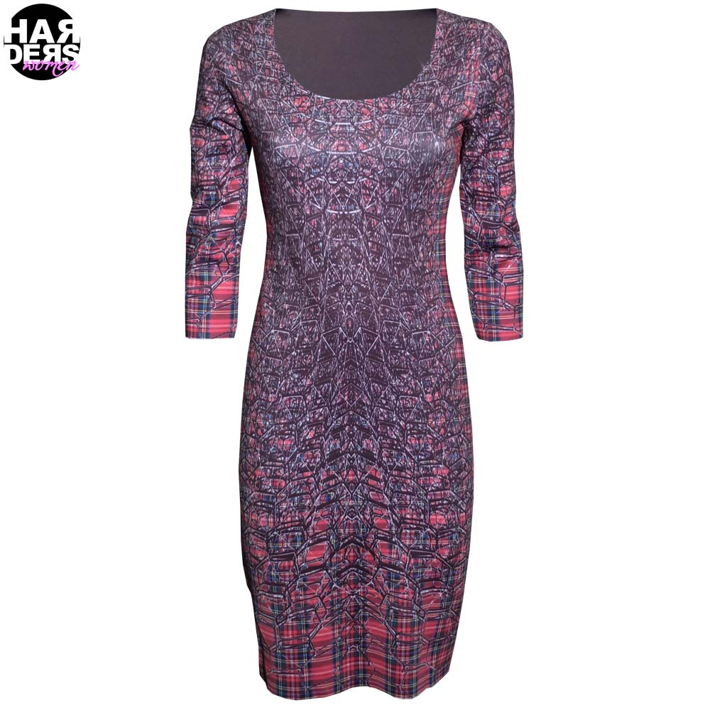 Anima Pop Kleid Dress Neopren PUA040 Kreise Wende Grafik