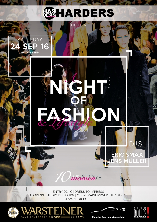 HARDERS Fashion Night Plakat A1